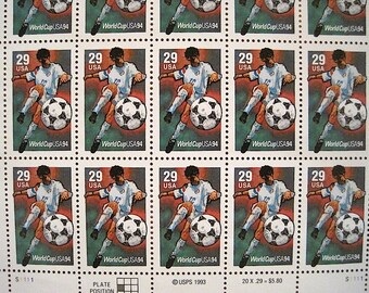20 Unused 1994 World Cup Soccer Championship US Postage Stamps