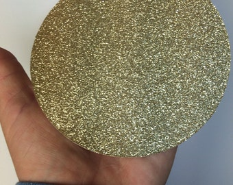 Large Gold Circles, 4in Circle Die Cuts, Paper Circles, Gold Glitter Circles, Cardstock Circles, Gold Dots, Gold Party supplies
