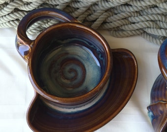 Soup and Cracker Bowl in Opal Glaze