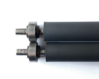 ROLLERS for Chandler and Price C&P tabletop Pilot 6.5x10 Letterpress with trucks - set of 2 rubber rollers + 4 trucks