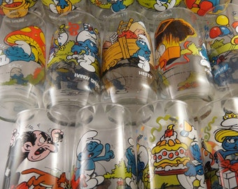 Smurf Collectible Drinking Glass Assortment to Choose From Wallace Berrie