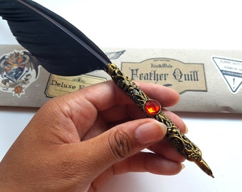Deluxe Ballpoint Quill - Black - College of Wizardry