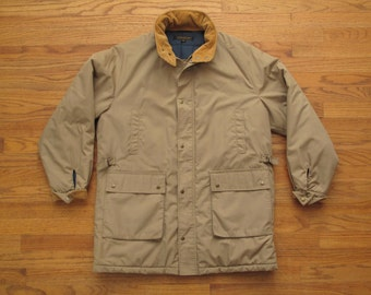 mens vintage Brooks Brothers quilted parka