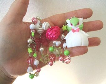 Pokémon Necklace - Mega GARDEVOIR - Bandai Figure Necklace - Decora, Kawaii