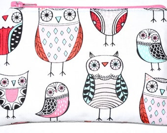 Owl Coin Purse Zipper Pouch Owls