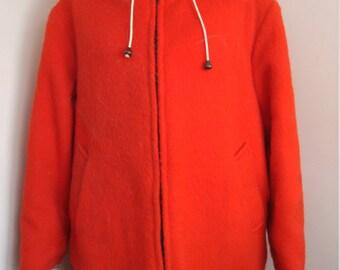 Vintage Hudson Bay Company Inuit Coat Wool  Inuit Coat In Red