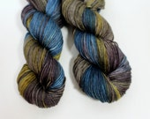 Hand dyed yarn silk merino DK, Cameron, View of the Hudson
