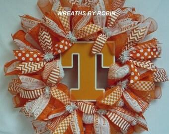 TN Vols Wreath, Vols Sports Wreath, Tennessee Wreath, College Wreaths