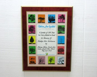 Vintage Trees For Israel  Plaque