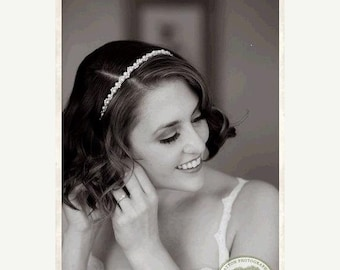 ON SALE Pearl Bridal Headband. Pearl Hairpiece. Pearl Hairpiece for Weddings