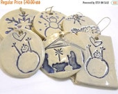 ON SALE Christmas Ornament or Gift Tag: Pick any FIVE