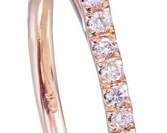 GIA H-VS2 14k rose gold cushion cut diamond engagement ring deco halo 1.60ct