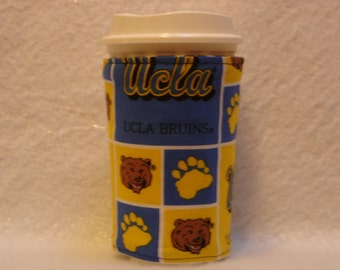 ARTI Coffee cup sleeve,For STARBUCKS  cups with UCLA Bruins Logo, rEVERSIBLE