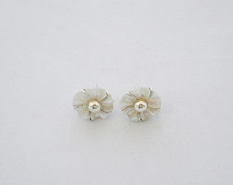 Natural Mother of Pearl Silver Earrings
