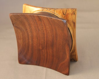 Spalted Maple and Walnut Magnetic Pincushion or Paperclip Holder