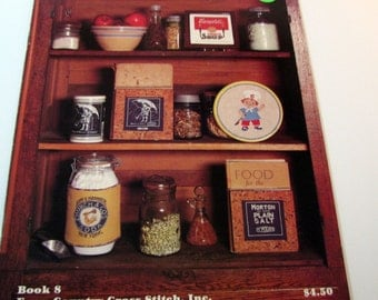 Coubntry Cupboard Trademarks from Grandmother's Kitchen Cross Stitch booklet # 8 1982
