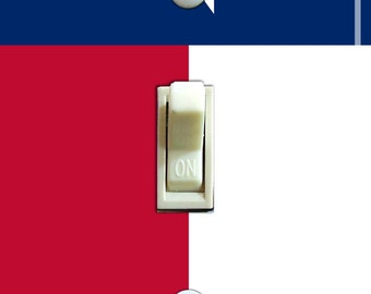 TEXAS State FLAG Single/Double Switch Plate ***FREE Shipping***