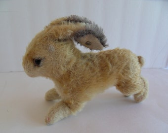 Steiff rabbit mohair button made in Germany 1543