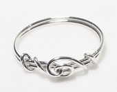 Thumb Ring - Ring Love Knot Band Design - Genuine Sterling Silver .925 - Custom Sizes 4 - 12 FREE SHIPPING - USA made and shipped