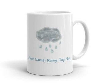 Personalized Mug Rainy Day Mom Dad Gift Name Cup Grandparent Gifts