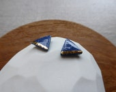 Gold Lined Triangle Stud ...
