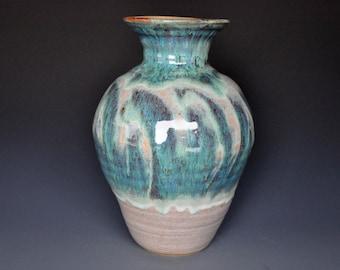 Stoneware Vase Large Pottery Flower Vase Jade B