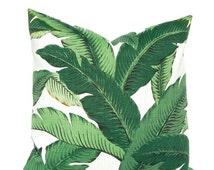 Sale Outdoor Pillow - Palm Leaf Pillow Cover, Green Pillow Covers, Banana Leaf Pillow,  Hollywood Regency Decor, Hawaiian Decor, Sunroom Dec