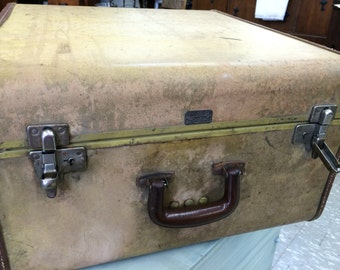 Vintage Shwayder Brothers Streamlite Suitcase, Samsonite Luggage, Antique Suitcase, Travel Luggage, 1940's Suitcase