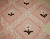 Sweet Peach, Brown and Pink Cabin Crafts Flowers - Large Cutter Piece with 7 Flowers, Some Wear and Flaws