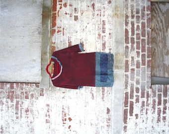 The Shadowy Thorn Top / Eco / Medium / Rustic / Upcycled / Boho / Country living / Cottage Chic