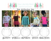 Pistachio Tee PDF Pattern sizes 12m-8
