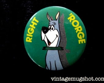"""JETSON'S DOG Astro  Vintage Pinback Button dated 1983 1 1/2"""" Tevision Cartoon Right Rorge"""