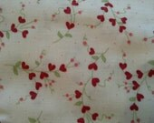 Small Heart Print 3 Yards Cotton Quilting Fabric  X0598