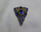 Reserved for Grace......Vintage sapphire elegant dress clip