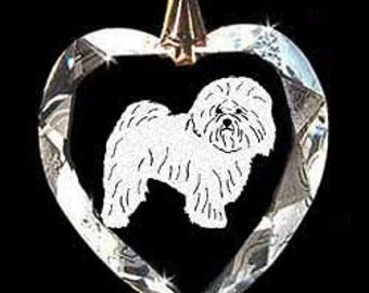 Bolognese-UKC Breed Dog Jewelry Custom Crystal Necklace Pendant, Suncatcher with any Animal or Name YOU Want, Gift, Dog Lover, Handler