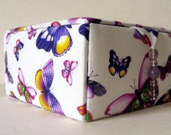 purple fabric jewelry box, decorative storage box or keepsakes box