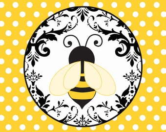 50- 3X3- Baby Bumble Bee themed Baby Shower Tags