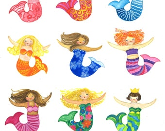 Mermaids Print 10x12