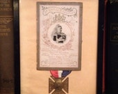 Queen Victoria Mourning Card and Medal.