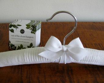 Flowergirl Hanger, Baptism Hanger, Keepsake Hanger, White Linen Display Hanger, Photo Prop Hanger, Little Girl Hanger, Party Dress Hanger