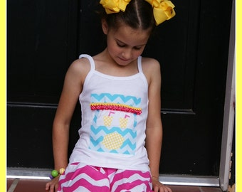 Lemonade Stand Top - Toddler Youth Girls - Lemonade Summer Tank top or Short Sleeves