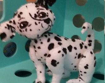 dalmatian dog plush felt stuffed animal toy