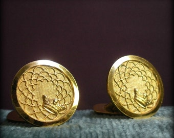 Circular Crown Cuff Links