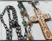 Amazing Grace Long Chunky  Chain necklace  Essential Oil Diffuser Necklace