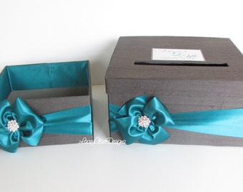 Card Box and Program Box Set - Wedding - Baby Shower - Bridal Shower  - Custom Made
