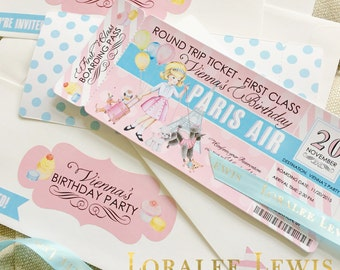 Paris, Passports and Puppies Invitation by Loralee Lewis