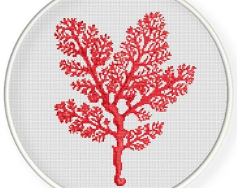 INSTANT DOWNLOAD,Free shipping,Cross stitch pattern, PDF,red Coral ,zxxc0654