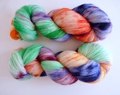 "Hand dyed lace yarn - SW Bluefaced Leicester wool, Tea Time base - Colourway ""Graffiti"""