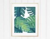 Tropical Rainforest Monstera Leaf Print