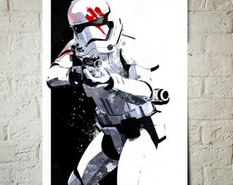 Star Wars Art - Finn FN-2187 Stormtrooper - Star Wars Poster, Art Print, fan art illustration, Star Wars gift, Stormtrooper poster